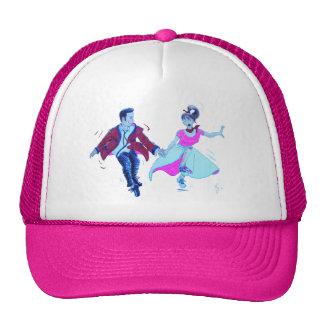 swing dancer pink poodle skirt saddle shoes cap