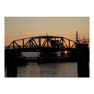 Swing Drawbridge at Sunset Poster