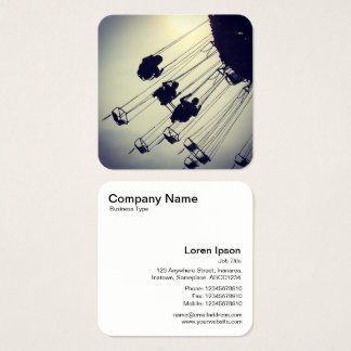 Swing Roundabout Square Business Card