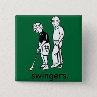 Swingers. 15 Cm Square Badge