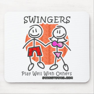 Swingers Play Well Together Mousepads