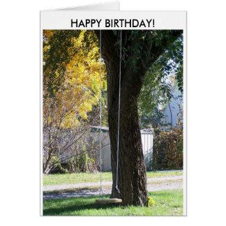 Swingin' Old Time Fun, HAPPY BIRTHDAY! Card