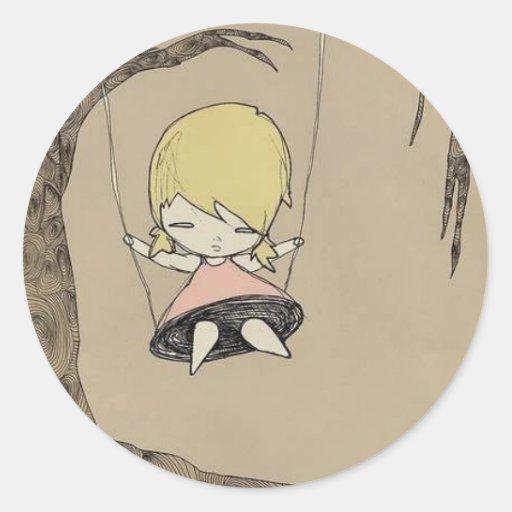 Swingin' on a tree swing stickers