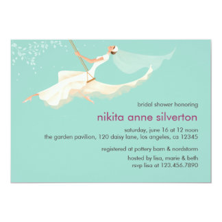 Swinging Bridal Shower Card