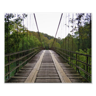 Swinging Bridge Photo Print