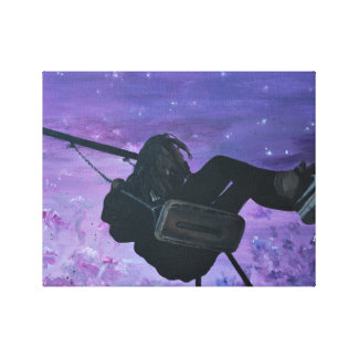 Swinging in wonderland canvas print
