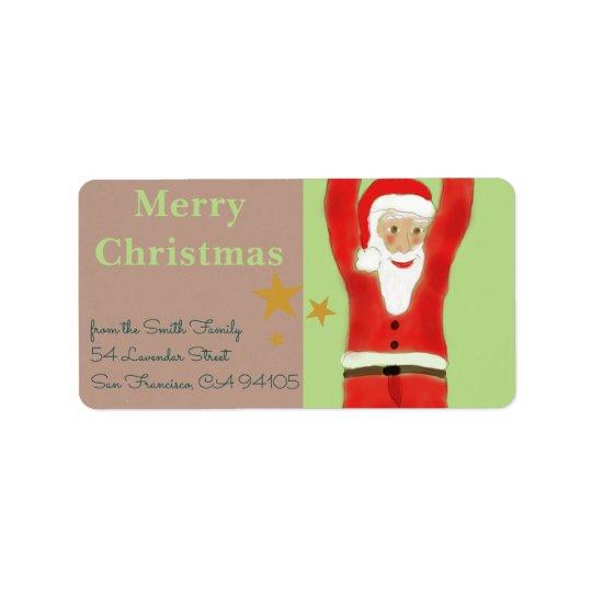 Swinging Santa Label