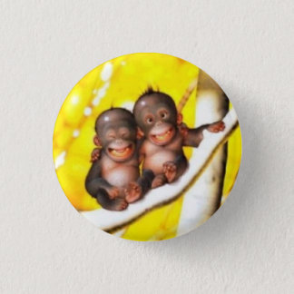 swipes in babies funny orang-outang 3 cm round badge