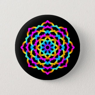 Swipes in Mandala Multicolore Psychedelic 6 Cm Round Badge