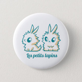 Swipes in small rabbits 6 cm round badge