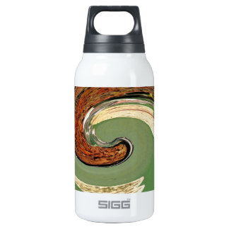 Swirl 01.03-Colors of Rust/Rost-Art Insulated Water Bottle