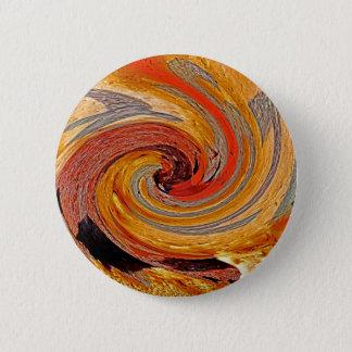 Swirl 02-Colors of Rust/Rust-Art 6 Cm Round Badge
