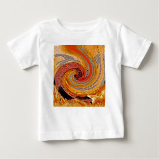 Swirl 02-Colors of Rust/Rust-Art Baby T-Shirt