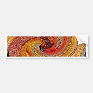 Swirl 02-Colors of Rust/Rust-Art Bumper Sticker