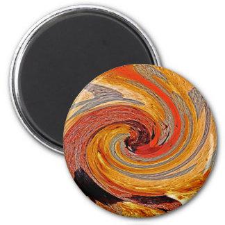 Swirl 02-Colors of Rust/Rust-Art Magnet