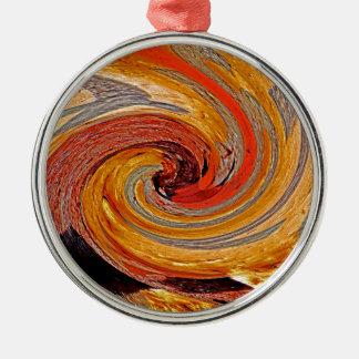 Swirl 02-Colors of Rust/Rust-Art Metal Ornament