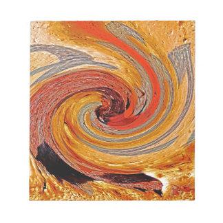 Swirl 02-Colors of Rust/Rust-Art Notepad