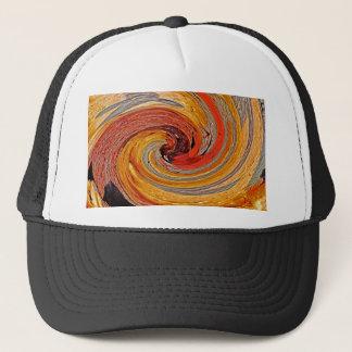 Swirl 02-Colors of Rust/Rust-Art Trucker Hat