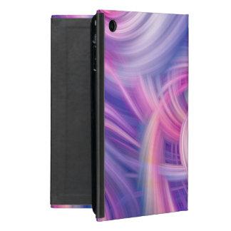 Swirl and Twirl - Pink, blue and purple wall art iPad Mini Cover