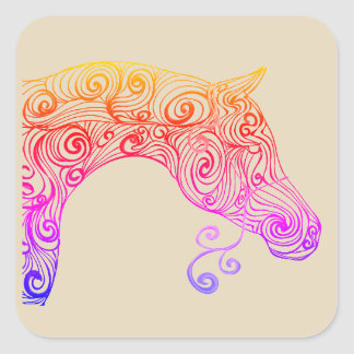 swirl arabian square sticker