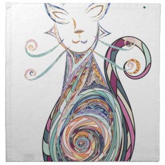 swirl cat copy napkin