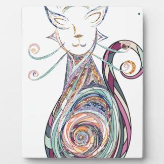 swirl cat copy plaque