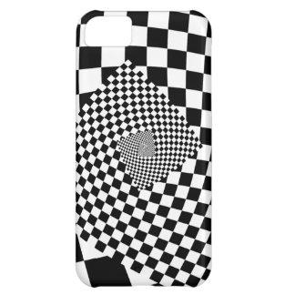 Swirl Checkerboard iPhone 5C Case