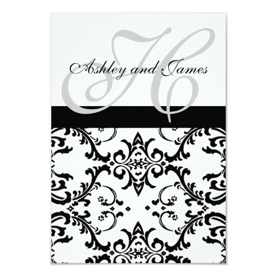 Swirl Damask RSVP Cards for Square Invites