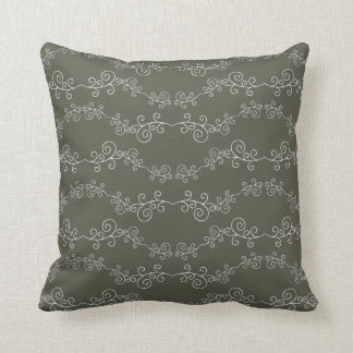 swirl doodle patterned throw cushion