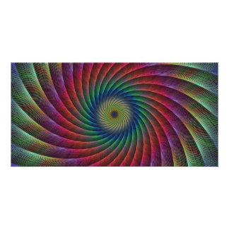 Swirl fractal customized photo card