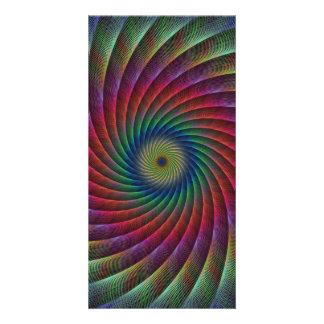 Swirl fractal photo greeting card