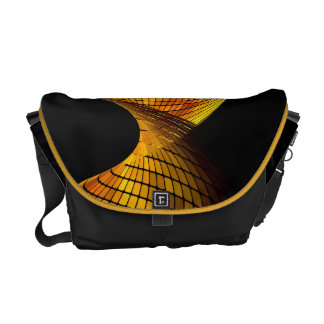 Swirl Geometric Vector Abstract Art Courier Bags