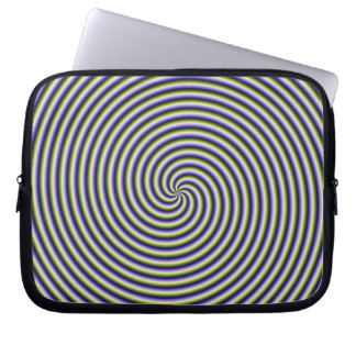 Swirl in Green Blue and Violet Computer Sleeves