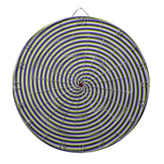 Swirl in Green Blue and Violet Dart Boards