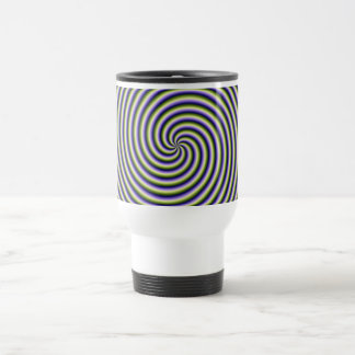Swirl in Green Blue and Violet 15 Oz Stainless Steel Travel Mug