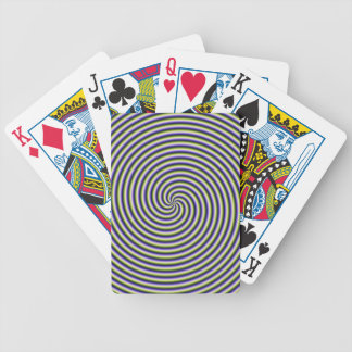 Swirl in Green Blue and Violet Card Deck