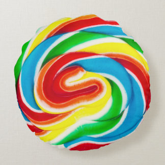 swirl lollipop round pillow