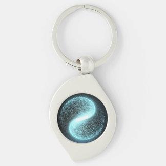 Swirl Metal Yin Yang Keychain