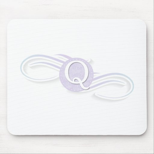 Swirl Monogram Q Mouse Pads