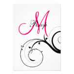 Swirl Monogram Wedding RSVP for Square Cards Custom Invitations