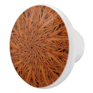 Swirl of Branches Ceramic Knob
