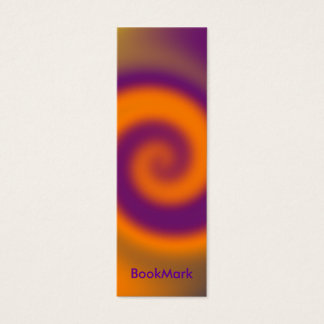 swirl orange purple BookMark Mini Business Card