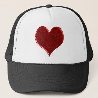Swirl Overlaid Heart Hat