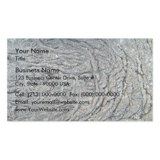 Swirl Pattern on Dark Rocky Surface Pack Of Standard Business Cards