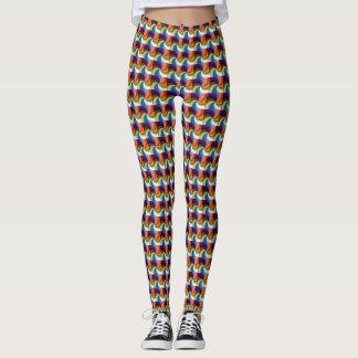 Swirl Patterned Leggings- Multi-colored Leggings