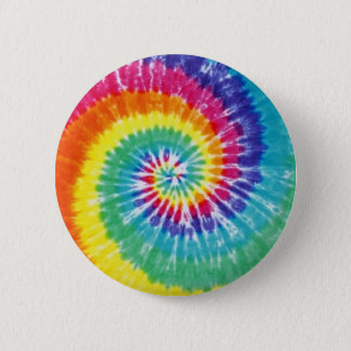 Swirl Tie Dye Multicolor Rainbow 6 Cm Round Badge
