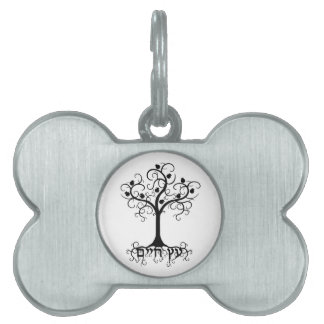 Swirl Tree of Life with Pomegranate Etz Chayim Pet Tag