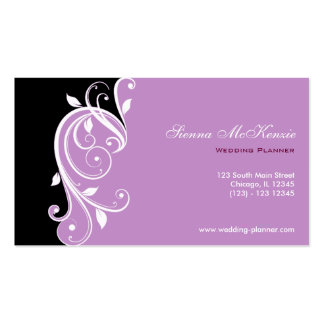 Swirl Wedding Planner Pack Of Standard Business Cards