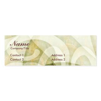 SWIRLCURLS PROFILE CARD BUSINESS CARD TEMPLATES