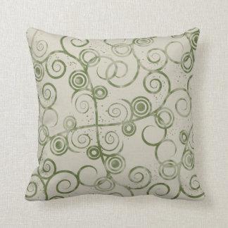 Swirled Green 2  American MOJO Pillow